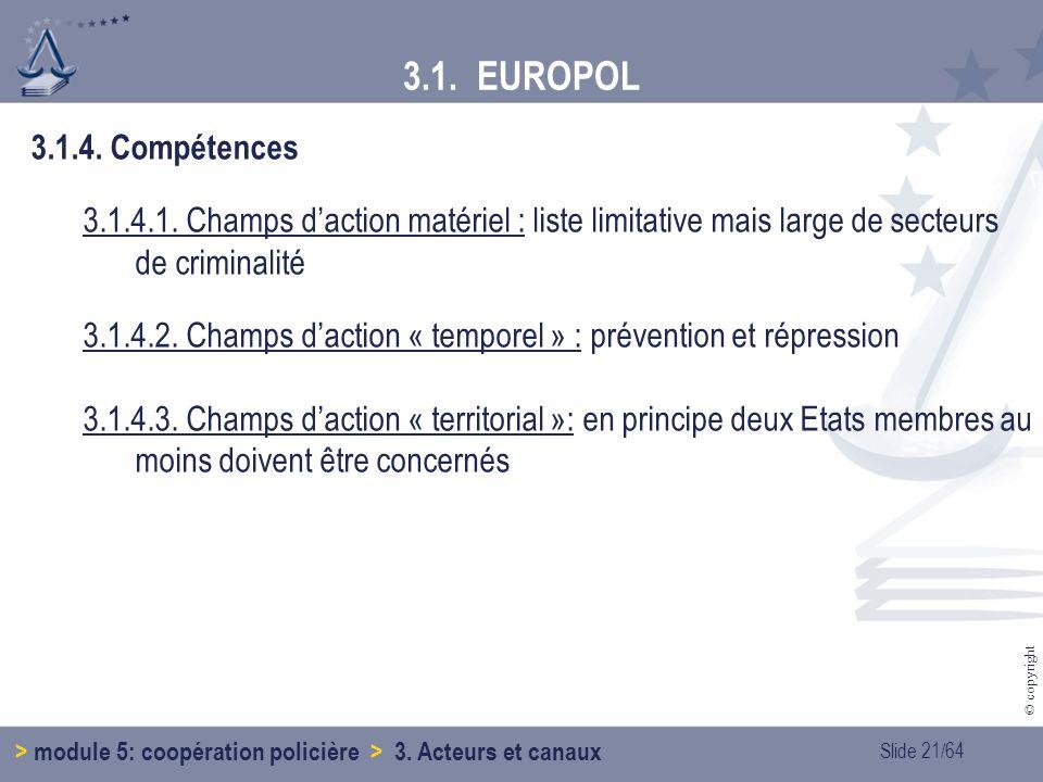 Slide 21/64 © copyright 3.1.4.Compétences 3.1.4.1.