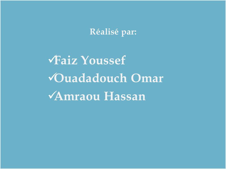 Réalisé par: Faiz Youssef Ouadadouch Omar Amraou Hassan Réalisé par: Faiz Youssef Ouadadouch Omar Amraou Hassan
