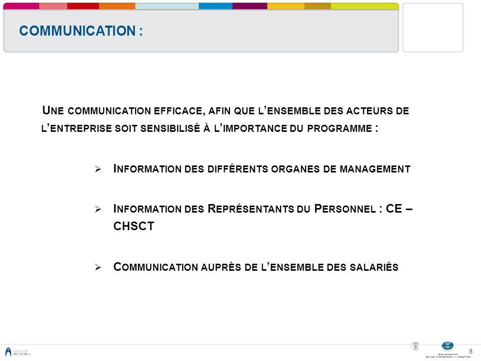 Centre de relation client Délivré par AFNOR Certification - www.marque-nf.com 8 COMMUNICATION : U NE COMMUNICATION EFFICACE, AFIN QUE L ENSEMBLE DES A