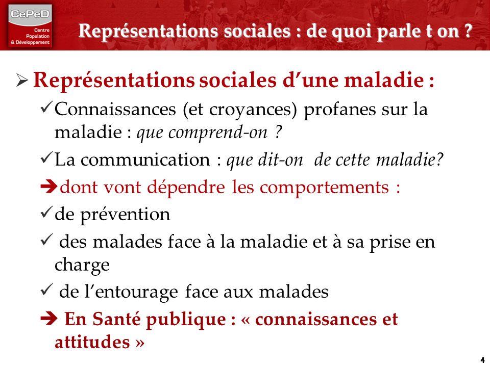 Représentations sociales : de quoi parle t on .