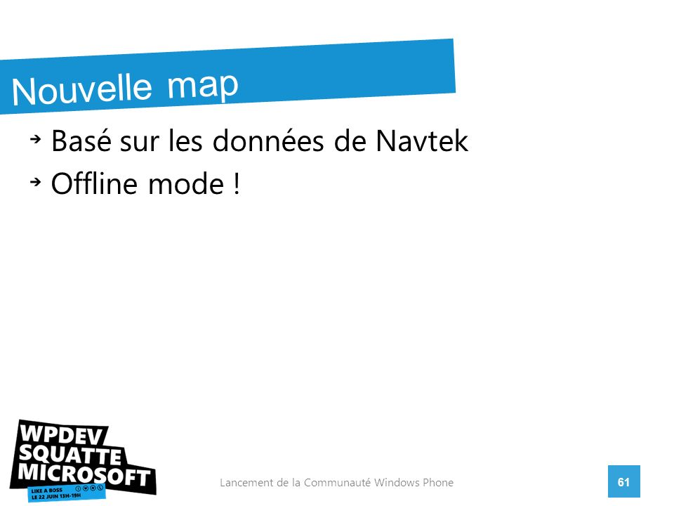 Basé sur les données de Navtek Offline mode .