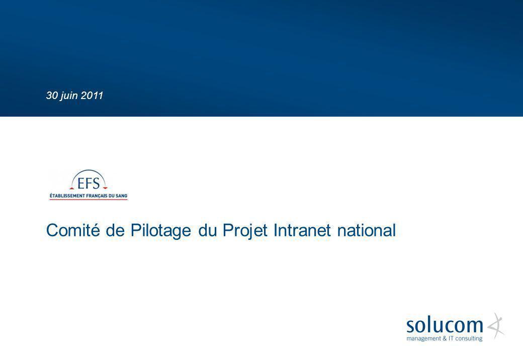 30 juin 2011 Comité de Pilotage du Projet Intranet national