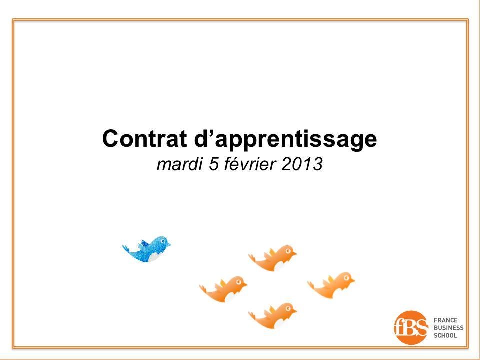 Contrat dapprentissage mardi 5 février 2013