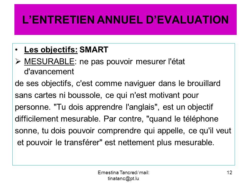 Les objectifs: SMART MESURABLE: ne pas pouvoir mesurer l'état d'avancement de ses objectifs, c'est comme naviguer dans le brouillard sans cartes ni bo