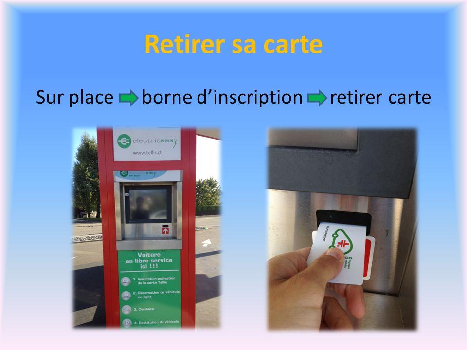 Retirer sa carte Sur place borne dinscription retirer carte