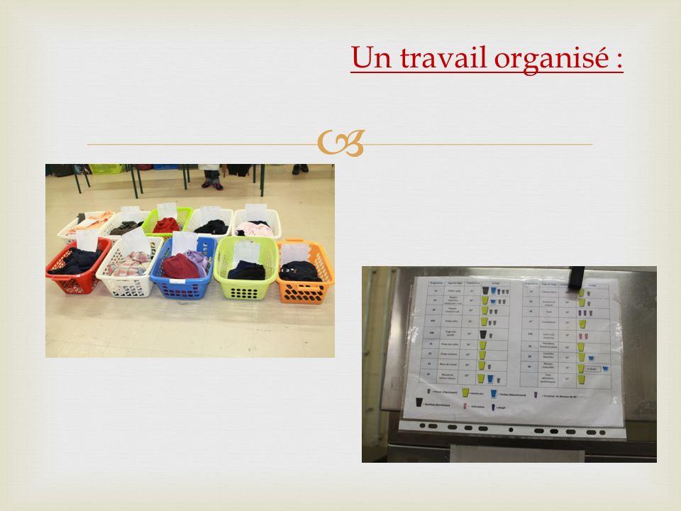 Un travail organisé :