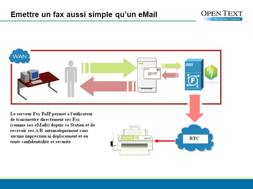 Emettre un fax aussi simple quun eMail