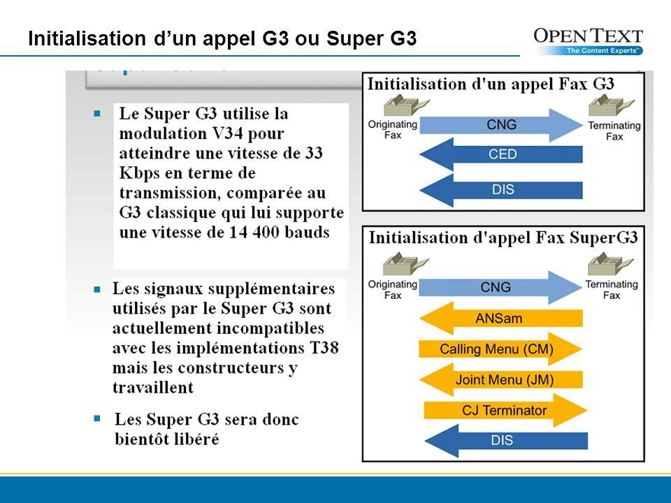 Initialisation dun appel G3 ou Super G3