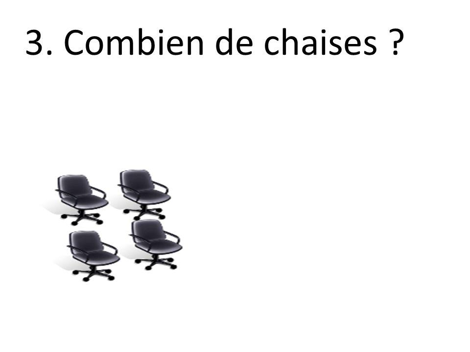 3. Combien de chaises ?