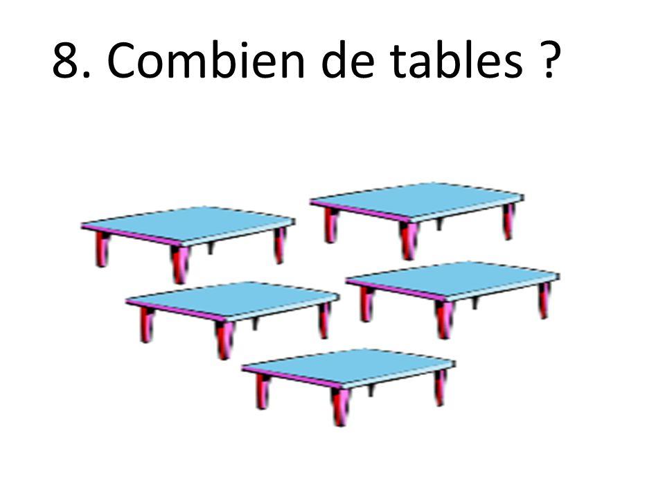 8. Combien de tables ?
