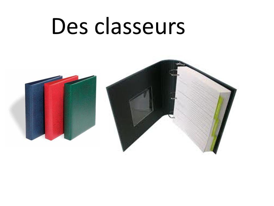Des classeurs
