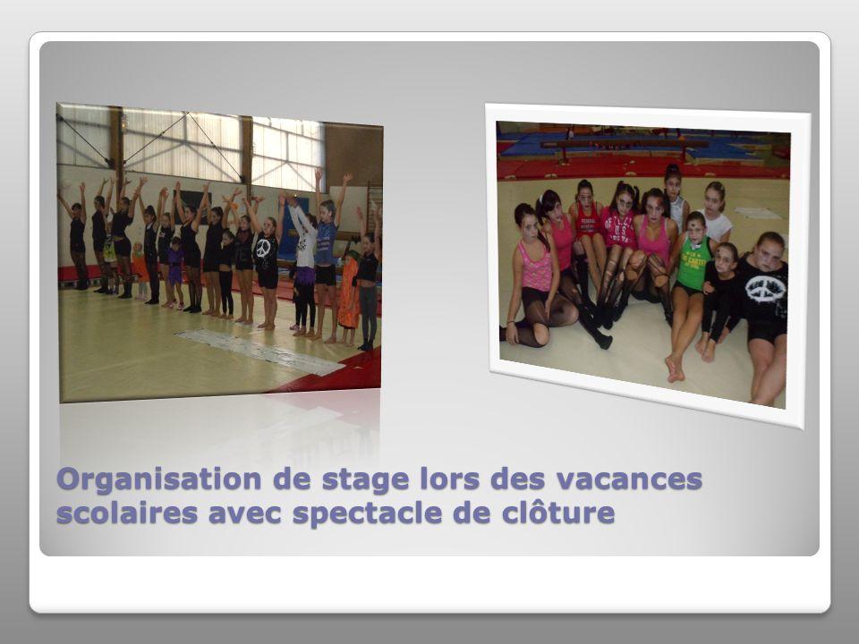 Organisation de stage lors des vacances scolaires avec spectacle de clôture Organisation de stage lors des vacances scolaires avec spectacle de clôture