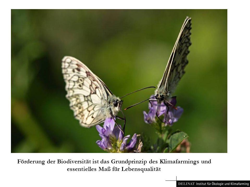 Förderung der Biodiversität ist das Grundprinzip des Klimafarmings und essentielles Maß für Lebensqualität