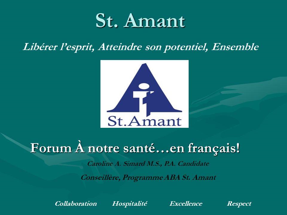Forum À notre santé…en français. St.