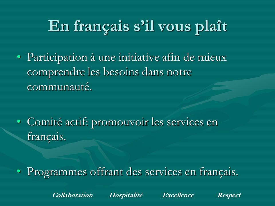 En français sil vous plaît Participation à une initiative afin de mieux comprendre les besoins dans notre communauté.Participation à une initiative af