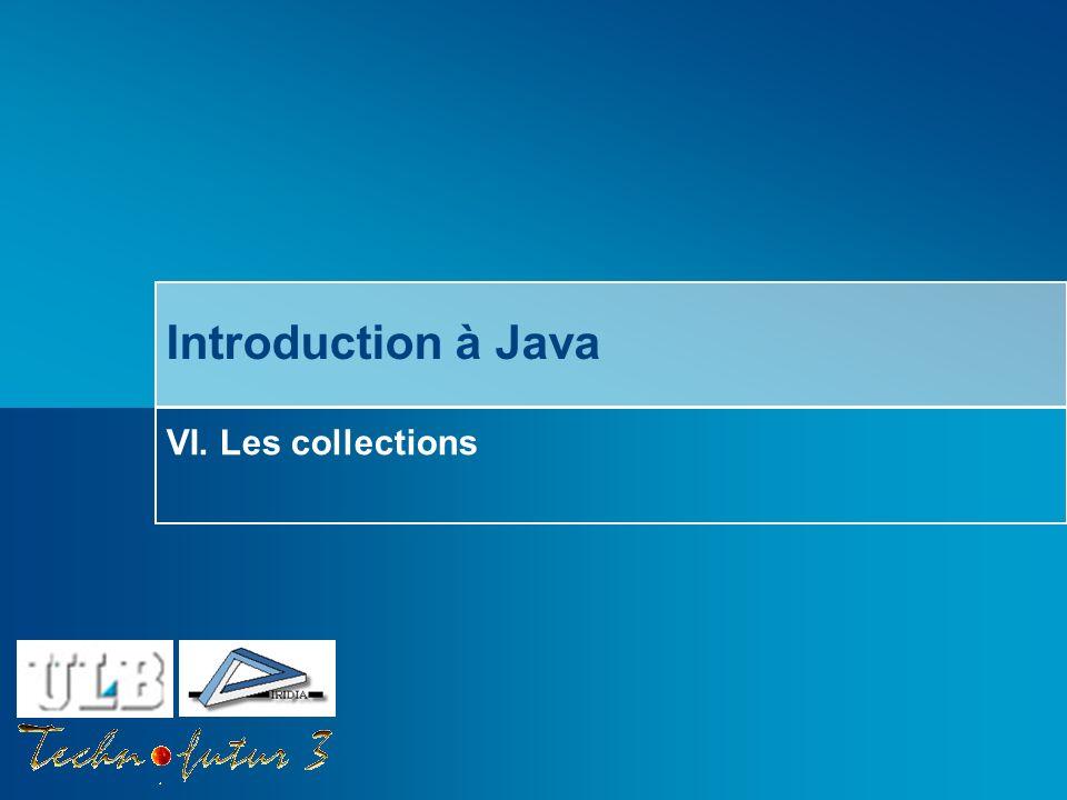 Cours Java 2013 Bersini Survol du chapitre Introduction Quest-ce quune Collection.