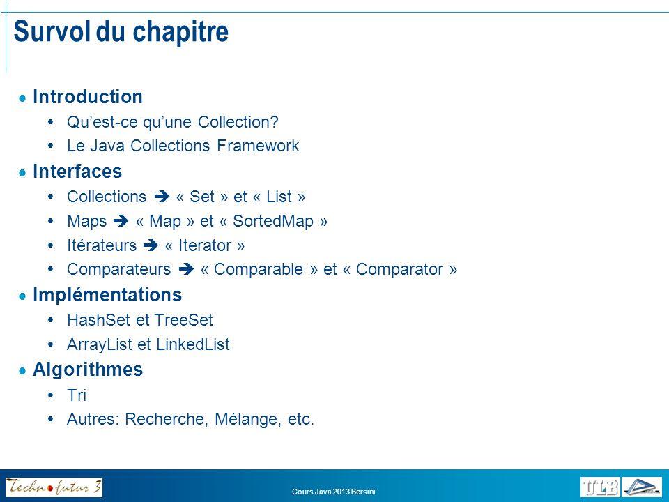 Cours Java 2013 Bersini Introduction Quest-ce quun collection.
