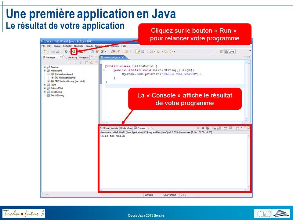 Introduction à Java III. Syntaxe du langage Java