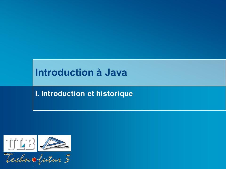 Cours Java 2013 Bersini Survol du chapitre Quest-ce que Java .