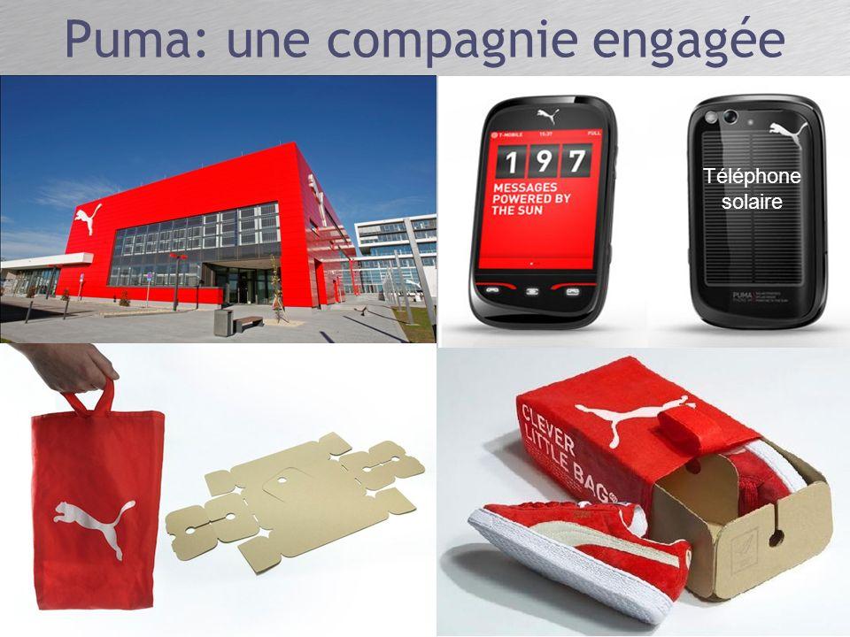Puma: une compagnie engagée Téléphone solaire