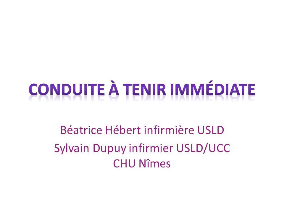 Béatrice Hébert infirmière USLD Sylvain Dupuy infirmier USLD/UCC CHU Nîmes
