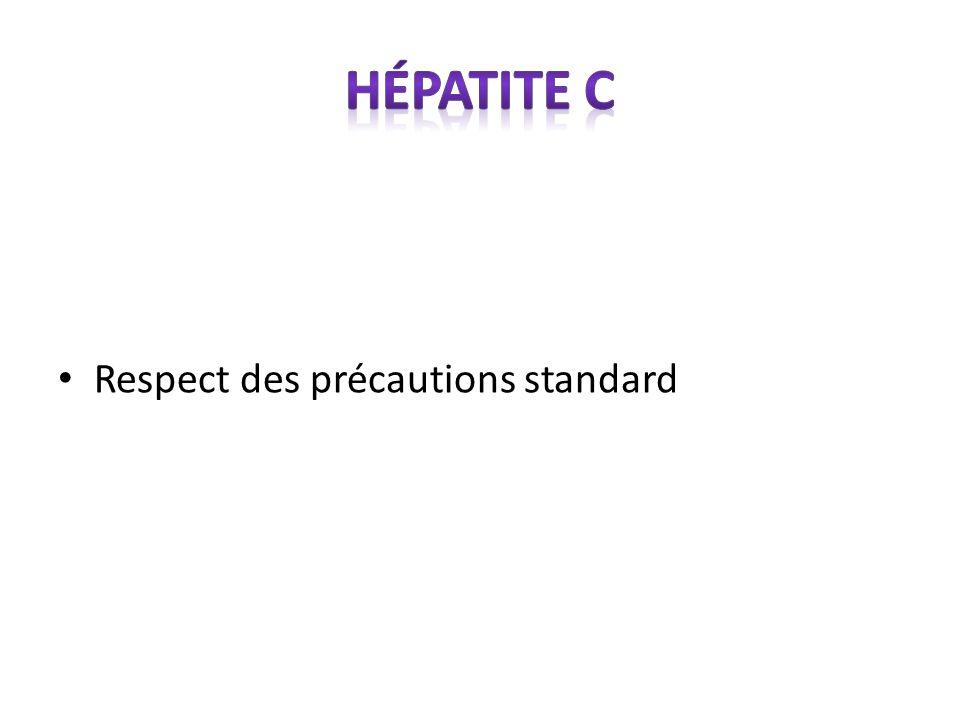 Respect des précautions standard