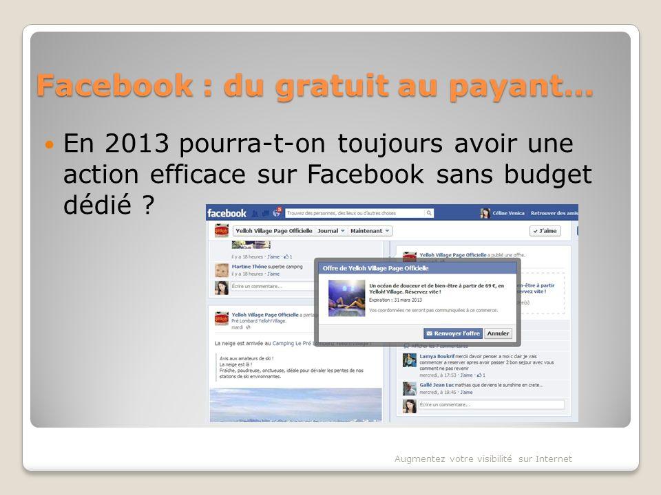 Facebook : du gratuit au payant… En 2013 pourra-t-on toujours avoir une action efficace sur Facebook sans budget dédié .