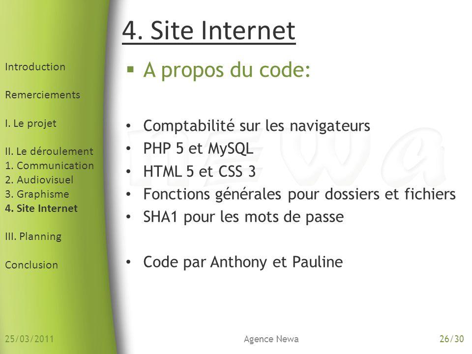 Introduction Remerciements I. Le projet II. Le déroulement 1. Communication 2. Audiovisuel 3. Graphisme 4. Site Internet III. Planning Conclusion A pr