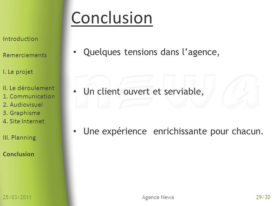 Introduction Remerciements I. Le projet II. Le déroulement 1. Communication 2. Audiovisuel 3. Graphisme 4. Site Internet III. Planning Conclusion Quel