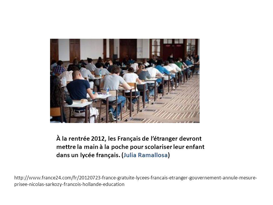 À la rentrée 2012, les Français de létranger devront mettre la main à la poche pour scolariser leur enfant dans un lycée français. (Julia Ramallosa) h