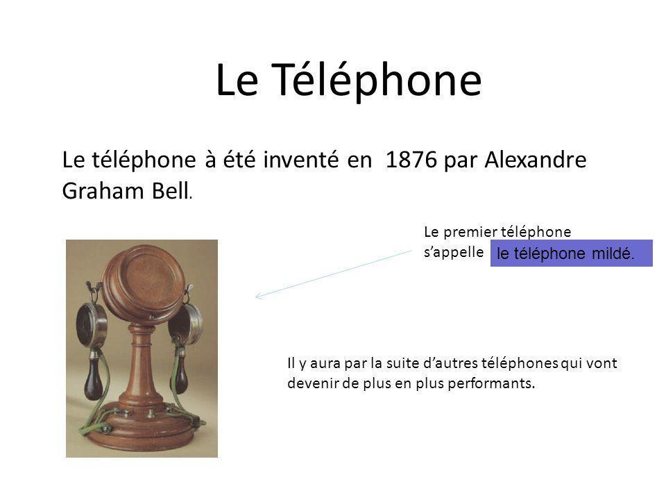 Le Téléphone Le téléphone à été inventé en 1876 par Alexandre Graham Bell. Le premier téléphone sappelle Il y aura par la suite dautres téléphones qui