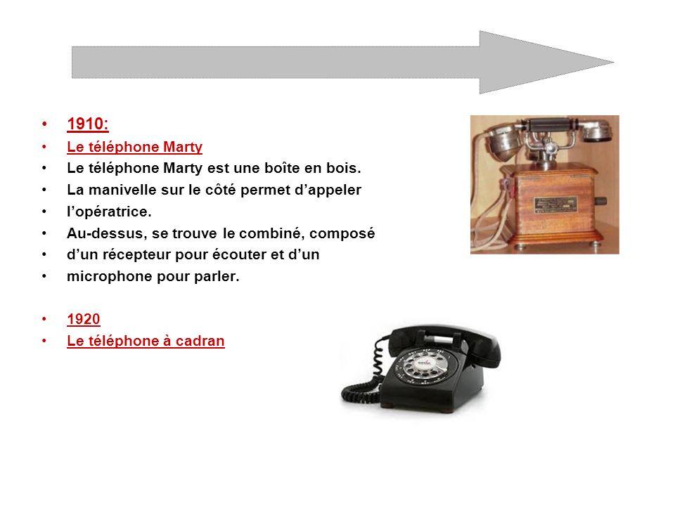 1940: Le téléphone à cadran bakélite Il est en bakélite.