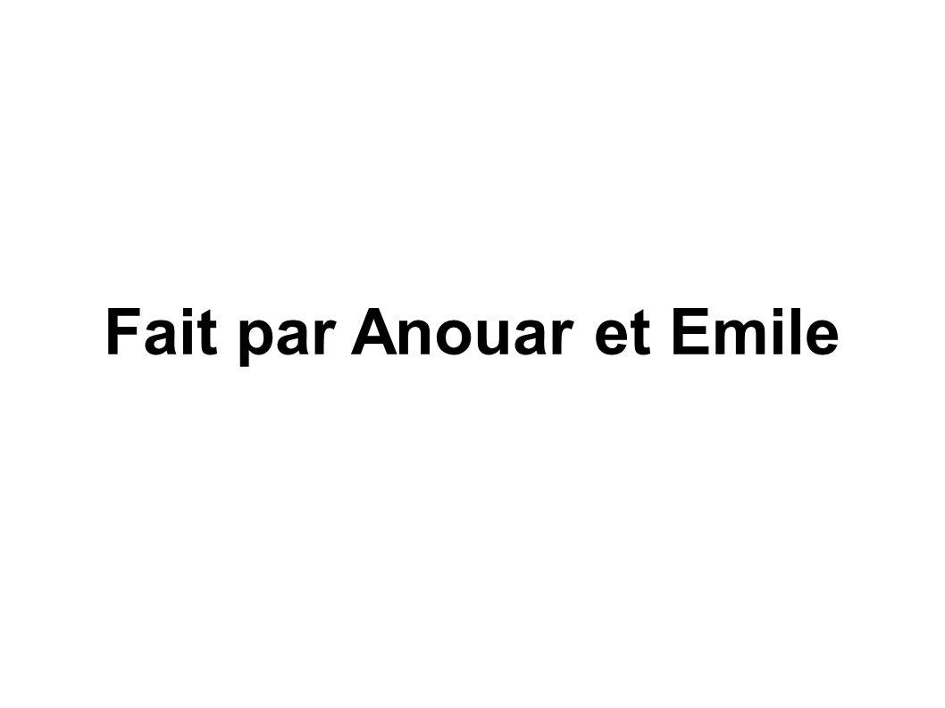 Fait par Anouar et Emile