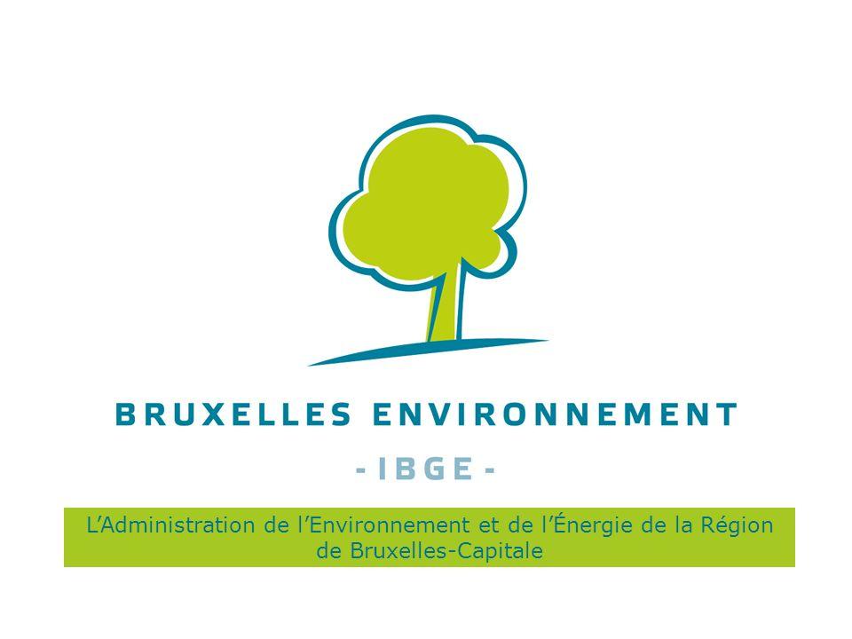 LAdministration de lEnvironnement et de lÉnergie de la Région de Bruxelles-Capitale