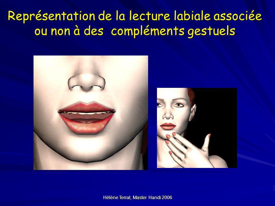 Hélène Terrat, Master Handi 2006 Représentation de la lecture labiale associée ou non à des compléments gestuels