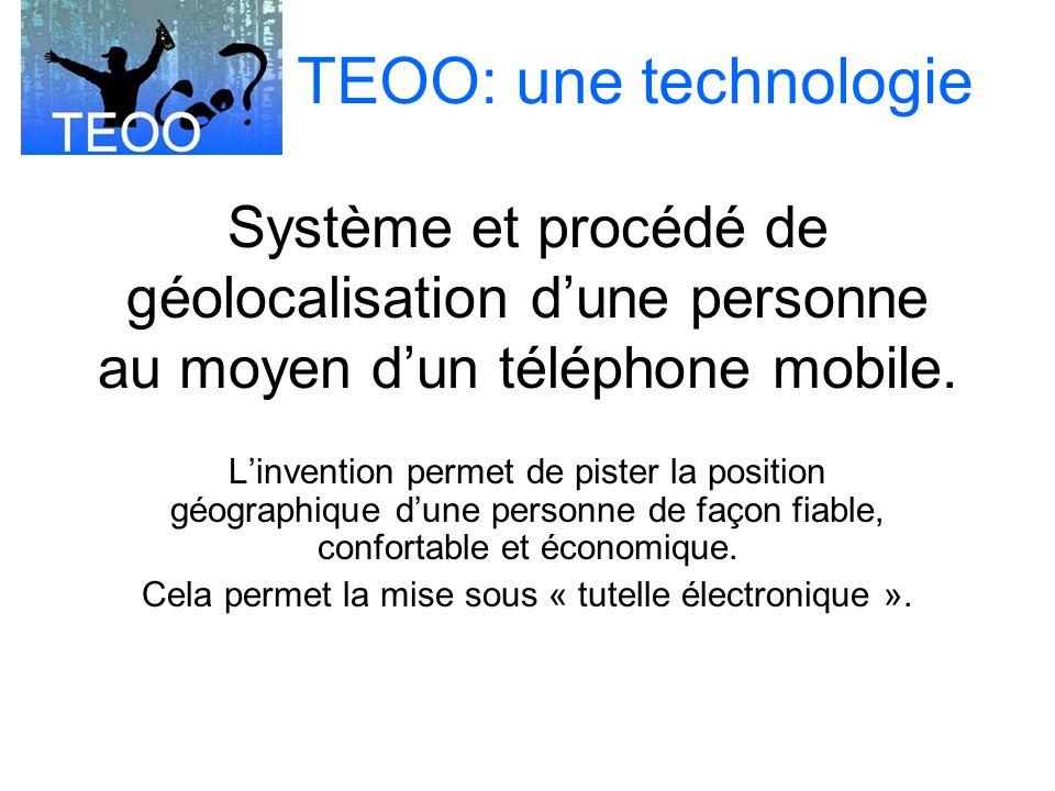 Système et procédé de géolocalisation dune personne au moyen dun téléphone mobile.