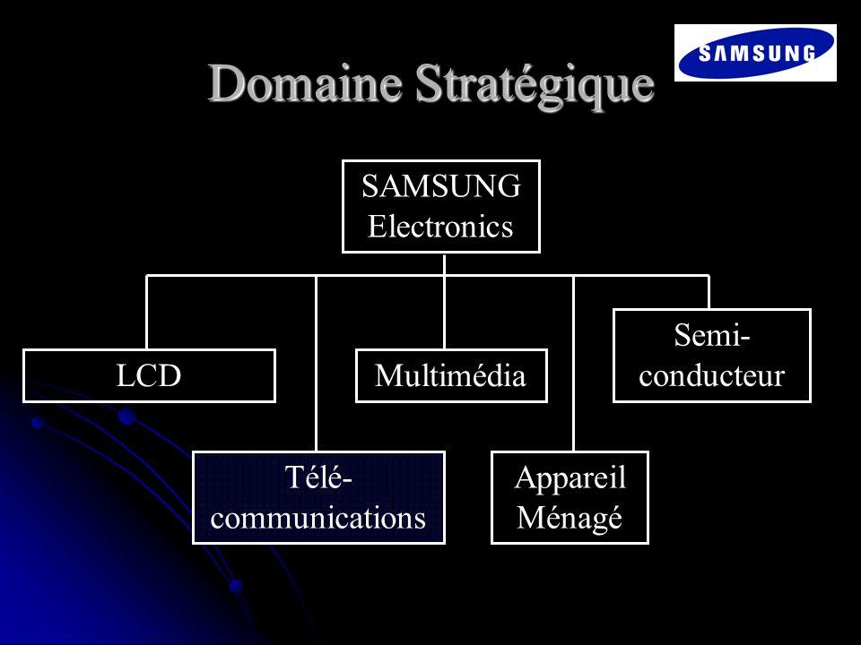 Domaine Stratégique SAMSUNG Electronics LCD Télé- communications Multimédia Appareil Ménagé Semi- conducteur