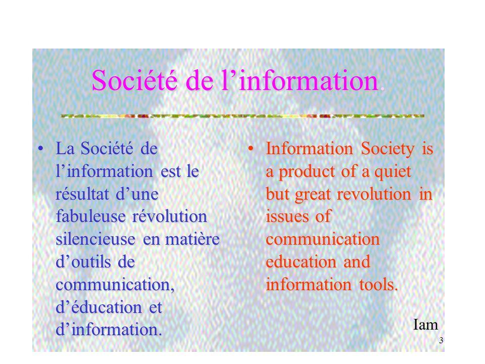 Iam 3 Société de linformation.