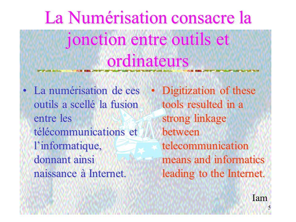 Iam 4 Outils / Tools Les outils vont des journaux aux satellites en passant par la radio, le téléphone numérique, les ordinateurs et maintenant Intern