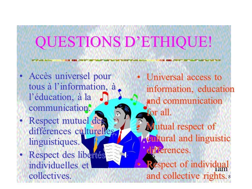 Iam 8 QUESTIONS DETHIQUE.