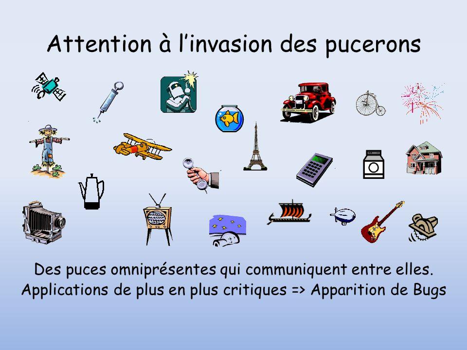 Attention à linvasion des pucerons Des puces omniprésentes qui communiquent entre elles.