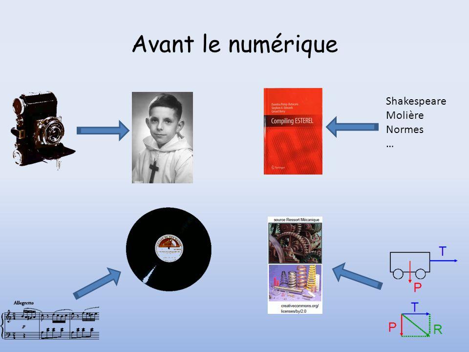 Le numérique signe de convergence vers un support unique Shakespeare Molière Normes … Attention il existe toujours des supports, mais numérique.