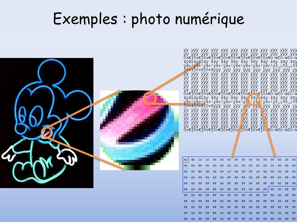 Exemples : photo numérique