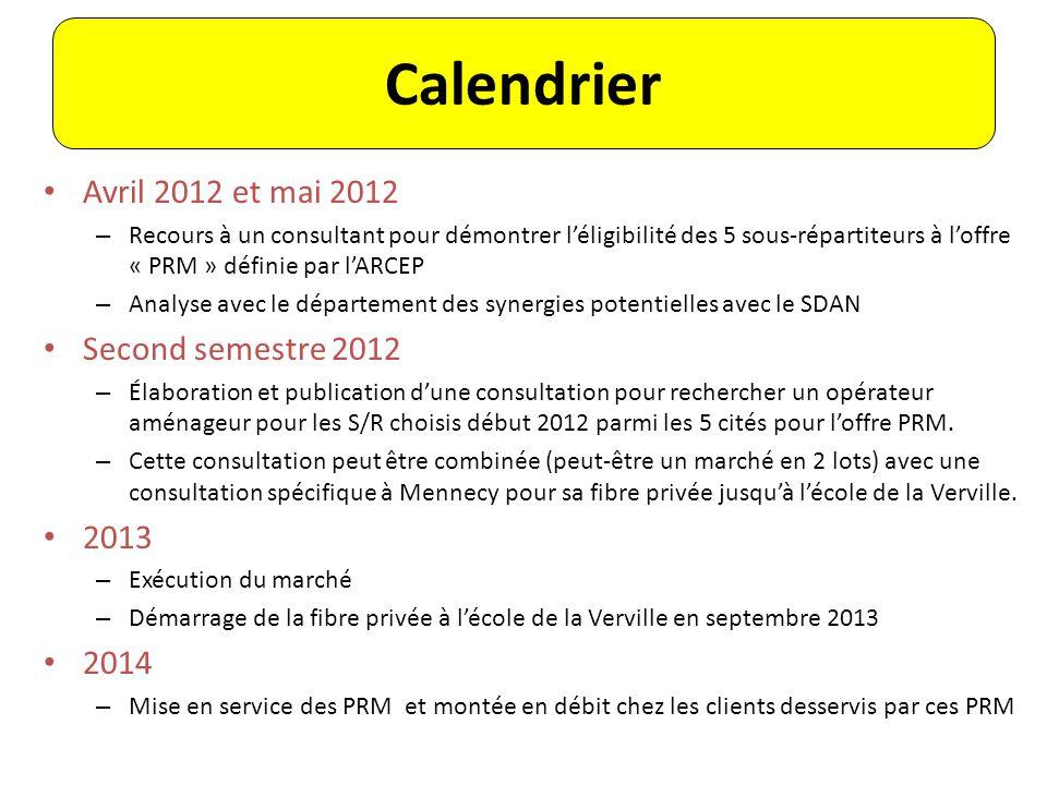Avril 2012 et mai 2012 – Recours à un consultant pour démontrer léligibilité des 5 sous-répartiteurs à loffre « PRM » définie par lARCEP – Analyse ave