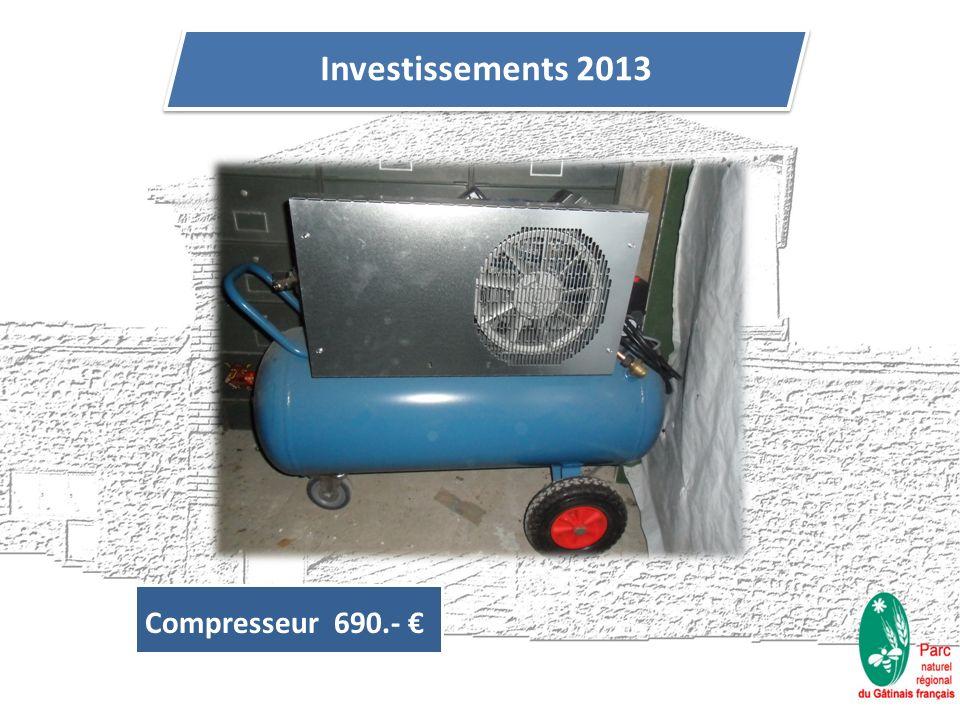 Investissements 2013 Compresseur 690.-