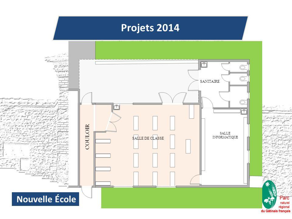 Projets 2014 Nouvelle École SALLE INFORMATIQUE SANITAIRE SALLE DE CLASSE COULOIR