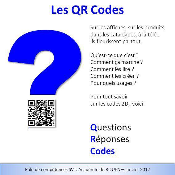Questions Réponses Codes Sur les affiches, sur les produits, dans les catalogues, à la télé… ils fleurissent partout.