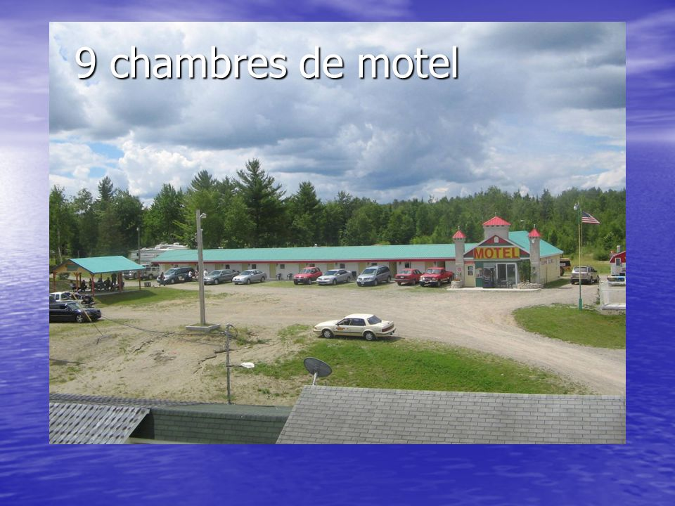 Motel-Camping Caldwell Nouvelle apparence et service de qualité Nouvelle apparence et service de qualité Proprio : Marcel Viel Proprio : Marcel Viel