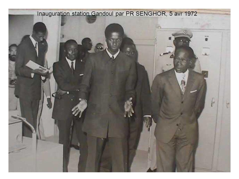 9 Inauguration station Gandoul par PR SENGHOR, 5 avr 1972