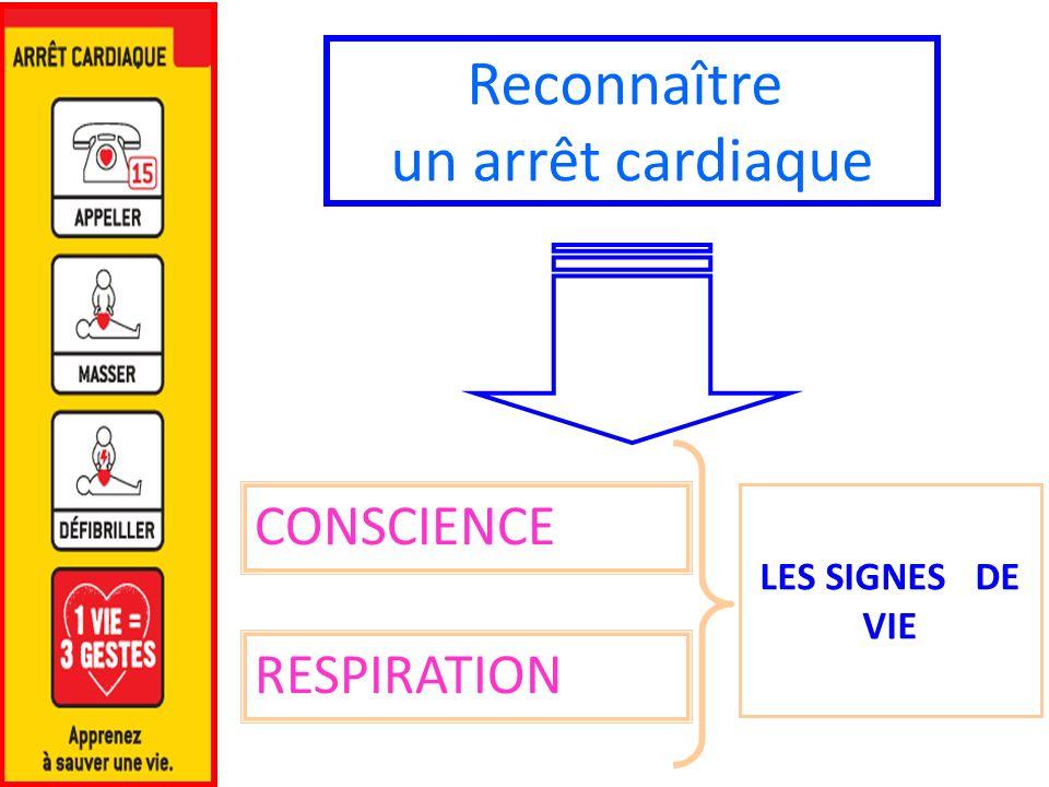 Reconnaître un arrêt cardiaque CONSCIENCE RESPIRATION LES SIGNES DE VIE